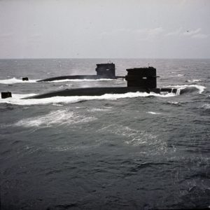 Zwaardvis-class Submarines at sea