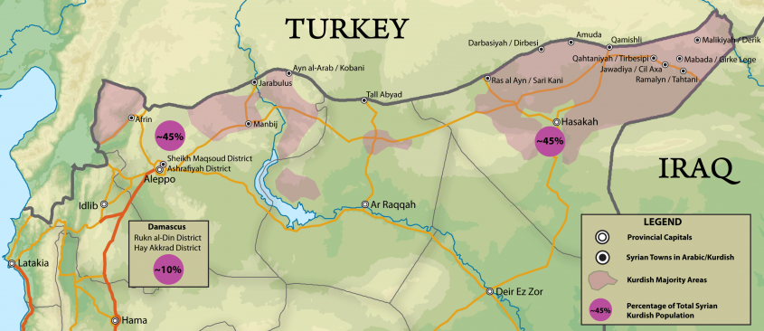 Kurdish Areas in Syria